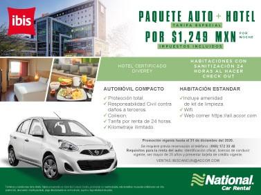 Paquete Auto Hotel IBIS en Cancún