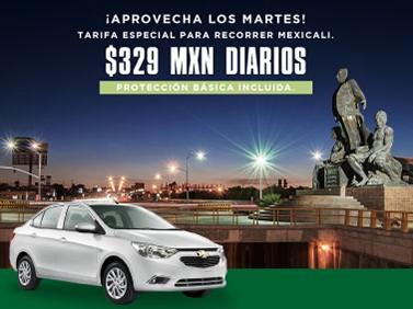 Recorre Mexicali los martes a sólo 329 MXN con Protección Básica incluida