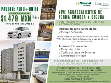 Auto Hotel Package Aguascalientes
